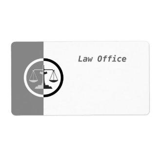 Escalas de la justicia etiqueta de envío