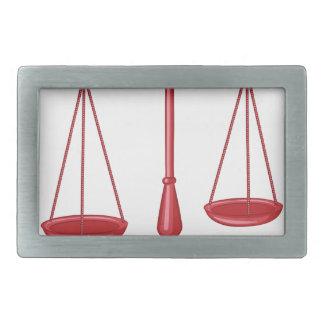 Escalas de la justicia hebillas de cinturón rectangulares
