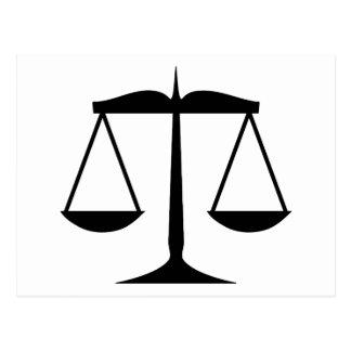 Escalas de la justicia (ley) postales
