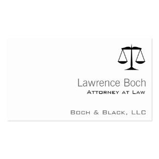 Escalas de la justicia (ley) tarjetas de visita