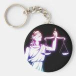Escalas de la justicia - llaveros de la ley