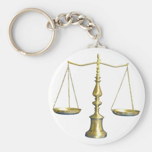Escalas de la justicia llaveros personalizados