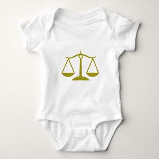 Escalas de la justicia - oro mameluco de bebé