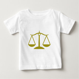 Escalas de la justicia - oro remeras