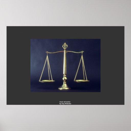 Escalas de la justicia posters
