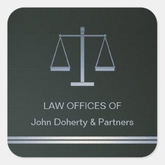 Escalas de la justicia - pegatina cuadrado
