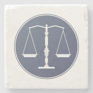 Escalas de la justicia posavasos de piedra