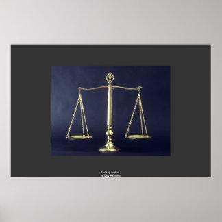 Escalas de la justicia póster