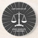 Escalas de la justicia - práctico de costa posavasos cerveza