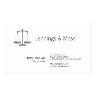 Escalas de la justicia tarjetas de visita