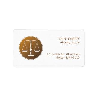 Escalas de la ley de la justicia el | etiqueta de dirección