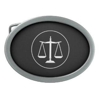 Escalas de la ley de la justicia el | hebillas de cinturón ovales