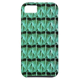 Escalas de la púrpura y del verde funda para iPhone SE/5/5s
