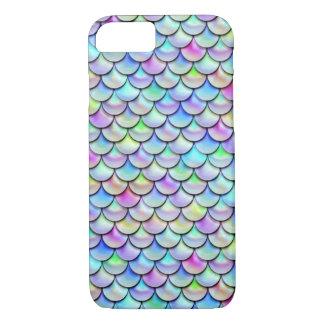 Escalas de la sirena de la burbuja del arco iris funda iPhone 7