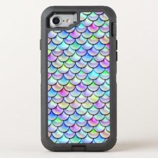Escalas de la sirena de la burbuja del arco iris funda OtterBox defender para iPhone 7