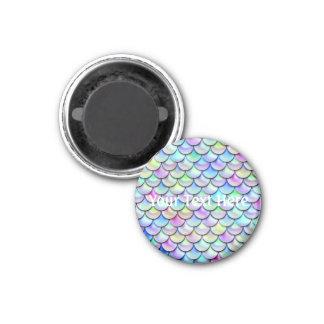 Escalas de la sirena de la burbuja del arco iris imán redondo 3 cm