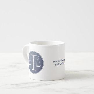 Escalas de la taza de la justicia taza espresso