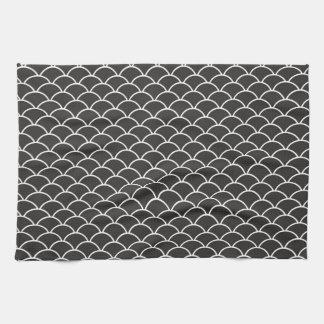 Escalas de pescados negras toallas