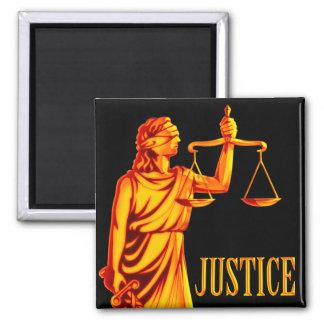 Escalas de Themis el | de la justicia Imán Cuadrado