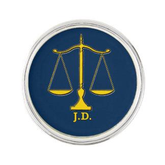Escalas del abogado J.D del Pin de la solapa de la