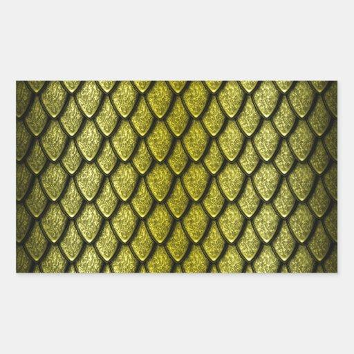 Escalas del dragón del oro pegatina