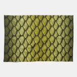 Escalas del dragón del oro toalla