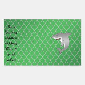 Escalas del dragón verde del tiburón rectangular altavoz