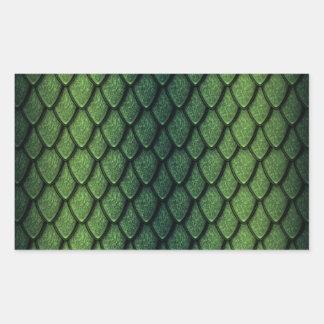 Escalas del dragón verde etiquetas