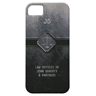 Escalas del monograma de la justicia iPhone 5 funda