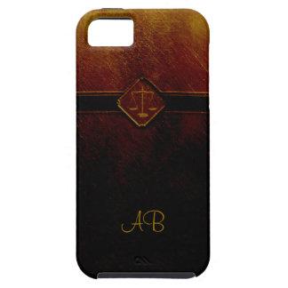 Escalas del monograma de la justicia iPhone 5 Case-Mate protectores