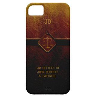Escalas del monograma de la justicia iPhone 5 carcasas