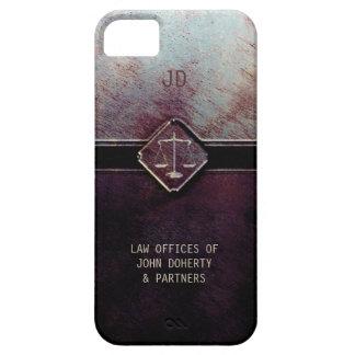 Escalas del monograma de la justicia iPhone 5 Case-Mate funda