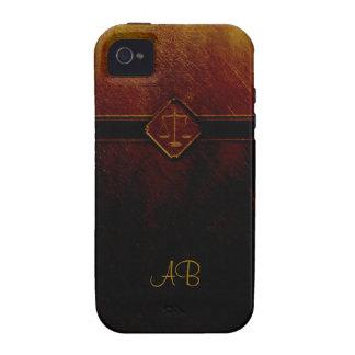 Escalas del monograma de la justicia Case-Mate iPhone 4 fundas
