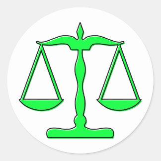 escalas del oddRex de la justicia Pegatina Redonda