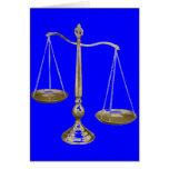 escalas del oro de la justicia tarjetón