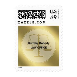 Escalas del oro del regalo elegante del abogado de timbre postal