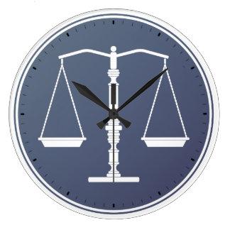 Escalas del reloj de la justicia