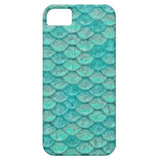Escalas del verde de mar de la sirena funda para iPhone SE/5/5s