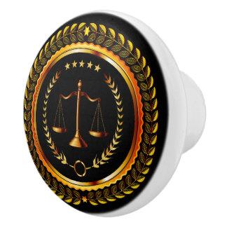 Escalas elegantes de la ley de los botones del pomo de cerámica