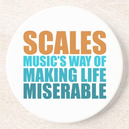 Escalas musicales posavasos diseño