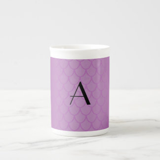Escalas púrpuras del dragón del monograma taza de porcelana