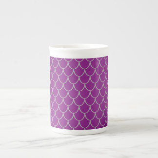 Escalas púrpuras del dragón taza de porcelana