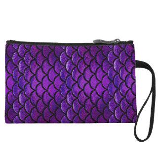 Escalas púrpuras y azules de Falln de la sirena