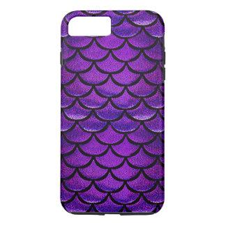Escalas púrpuras y azules de Falln de la sirena Funda iPhone 7 Plus