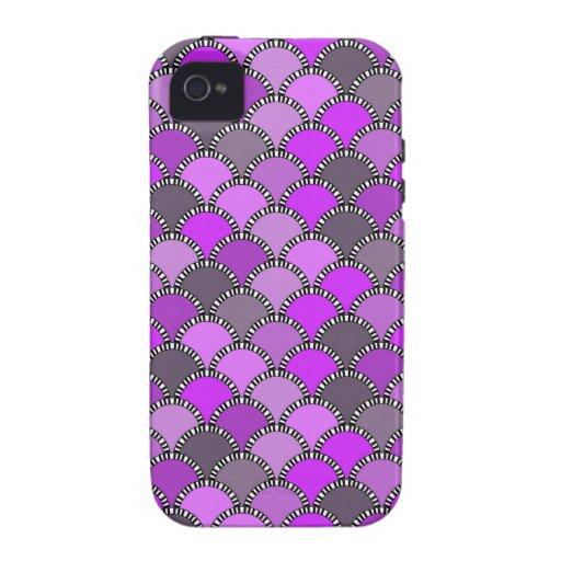 Escalas púrpuras y del color de malva femeninas vibe iPhone 4 funda