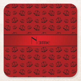 Escalas rojas conocidas personalizadas de la posavasos desechable cuadrado