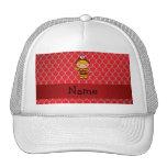 Escalas rojas personalizadas del dragón del bomber gorra