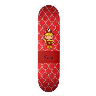 Escalas rojas personalizadas del dragón del bomber tabla de patinar