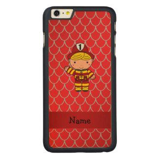 Escalas rojas personalizadas del dragón del funda para iPhone 6 de carved® de arce