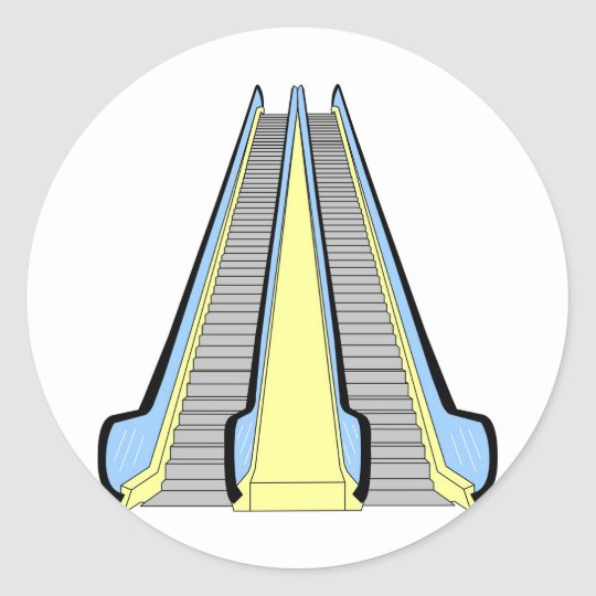 Escalator Classic Round Sticker